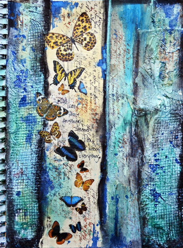 Art Journal Page *Flying Unicorn*