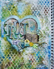 Trust your Heart - Art Journal Page