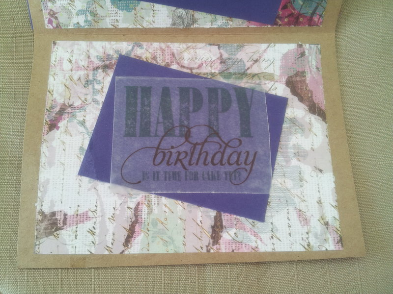 CYNEDA PAPER CREATIONS HANDMADE BIRTHDAY MAKE A WISH GREETING CARD