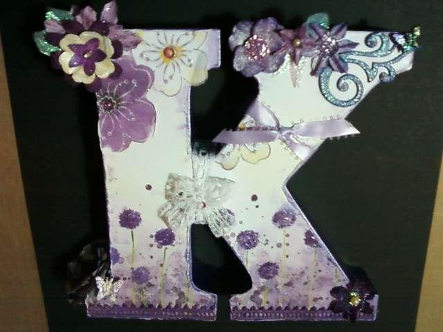 Altered wooden letter K
