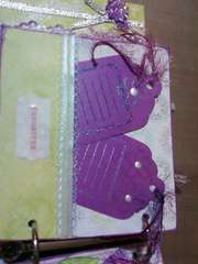 Purple & Green Mini journaling tags page