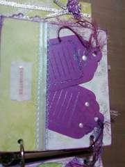 Purple & Green Mini journaling tags page