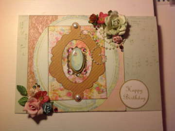 feminine vintage birthday card