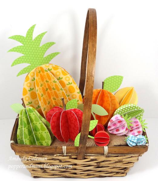 3D Paper Fruit Basket