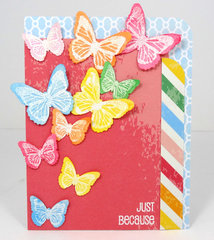 Rainbow Butterfly Card