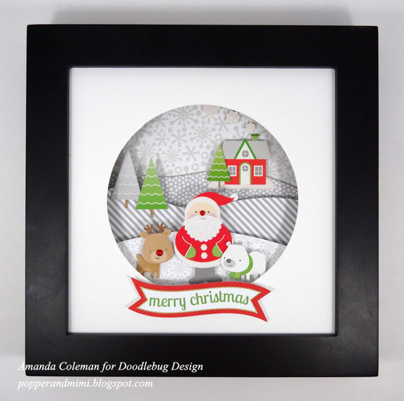 Christmas Snow Globe Shadow Box