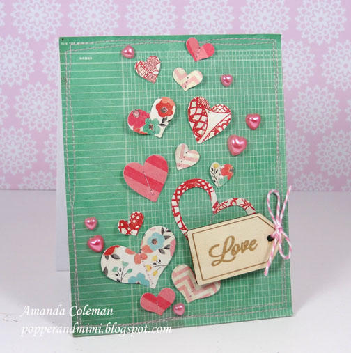 Fluttering Hearts Card
