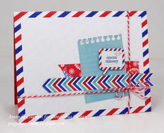 Airmail Stripes card