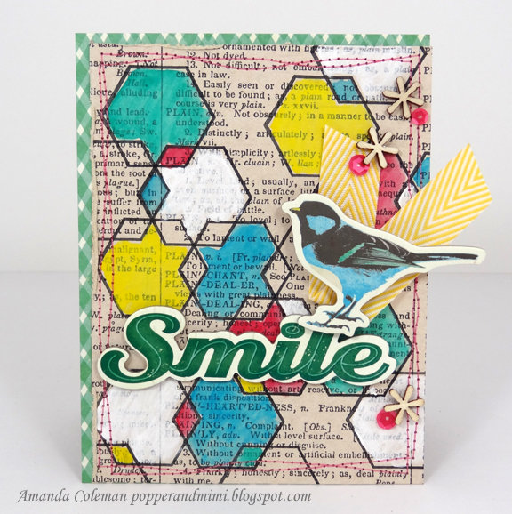 Eclectic Watercolor Hexagon Card