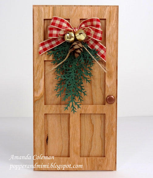 Wood Door Christmas Card