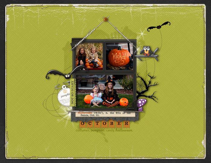 October Calendar Topper
