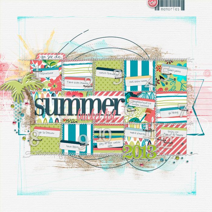 Summer 2013 Bucket List
