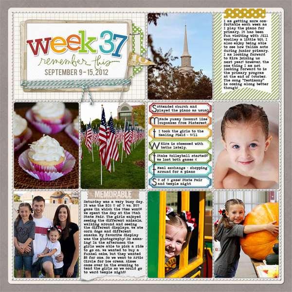 Week 37 - 2012