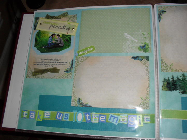 Twilight Meadow Scrapbook Layout Page 1