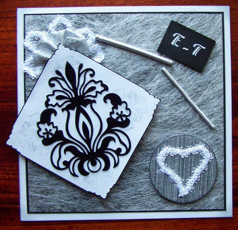 Card for wedding - black & white