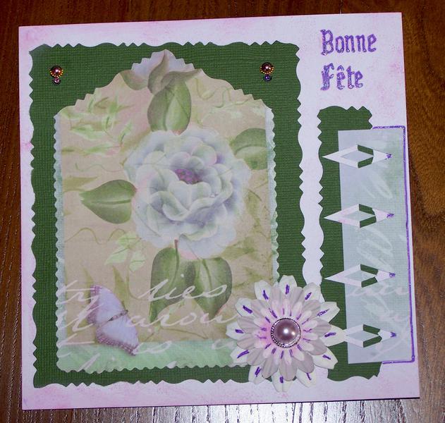 Card Flowers & pearls