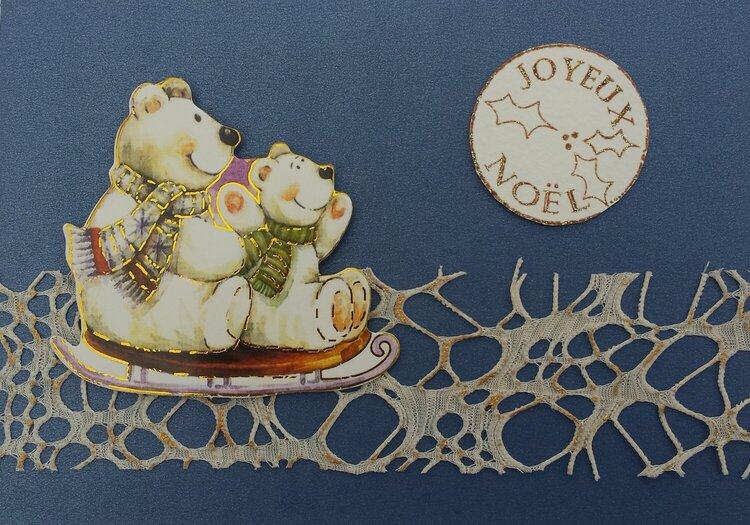 Card with teddy bears