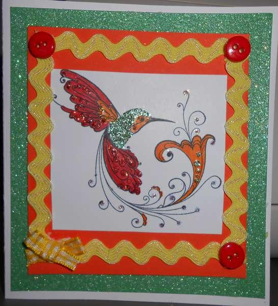 hummingbird with ric rac
