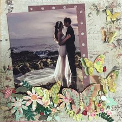 Bride & Groom 12 x 12 scrap page