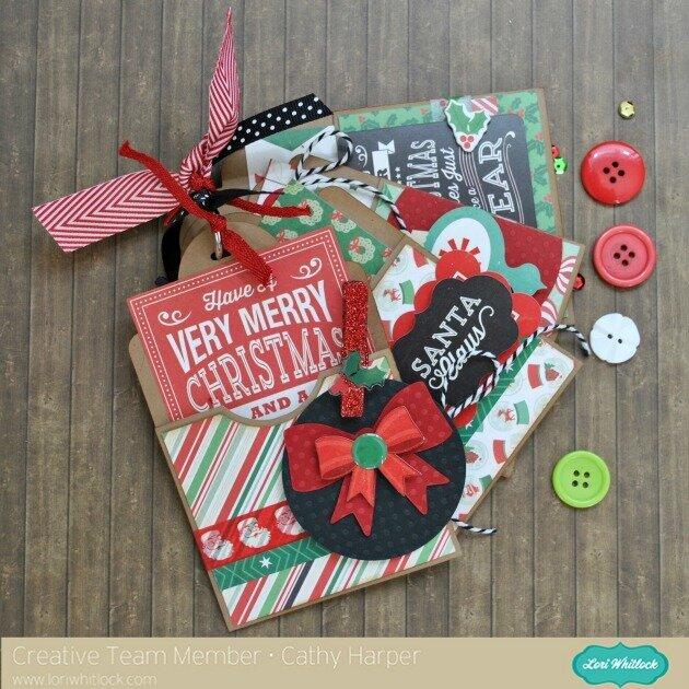 Lori Whitlock Christmas Tags with EP's Christmas Cheer
