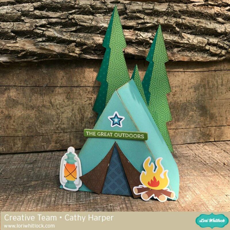 3 D Tent Box  *Lori Whitlock*