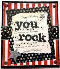 You Rock! Birthday card