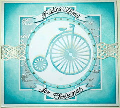 Riding Home for Christmas - Card