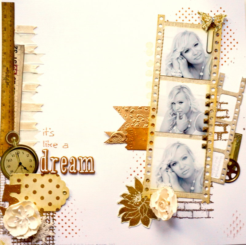 like a dream - white golden layout