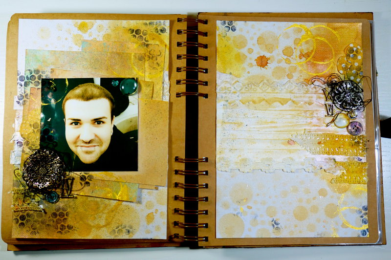Art Journal Page 3 with Finnabair