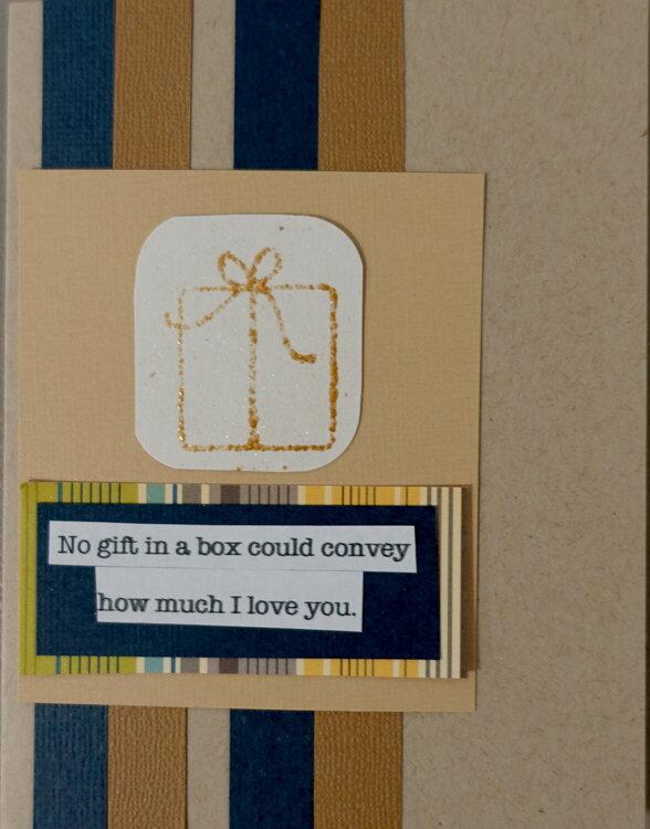 Birthday card for my husband