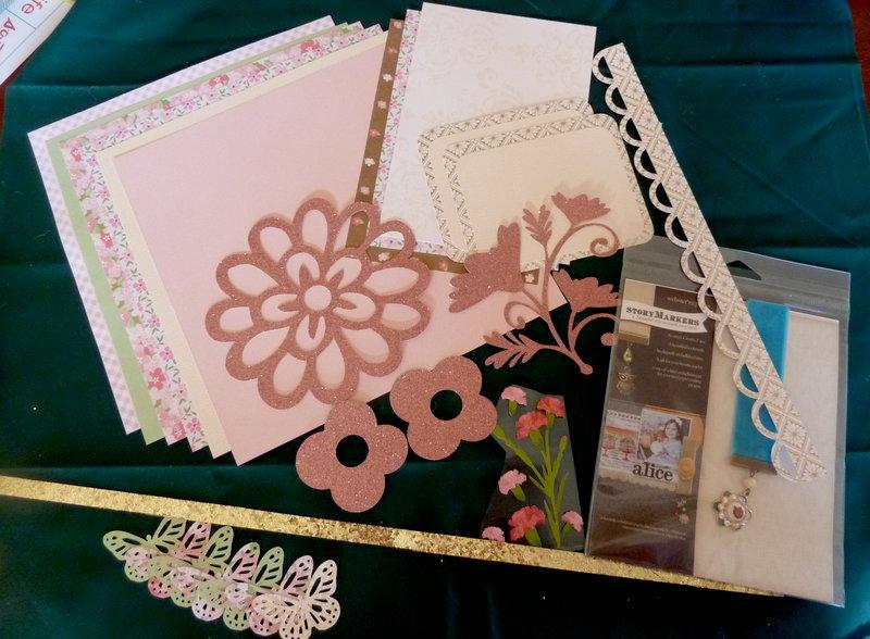 January Glitter and Gold Kit Swap