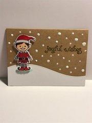 Snowy Elf Christmas Card