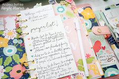 Faith Planner Set Up using Simple Stories Faith Collection