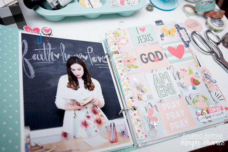 Faith Mini Album using Simple Stories Faith Collection
