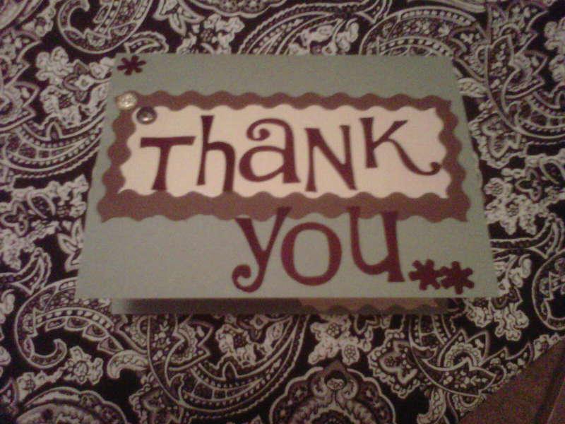 Thank You II.