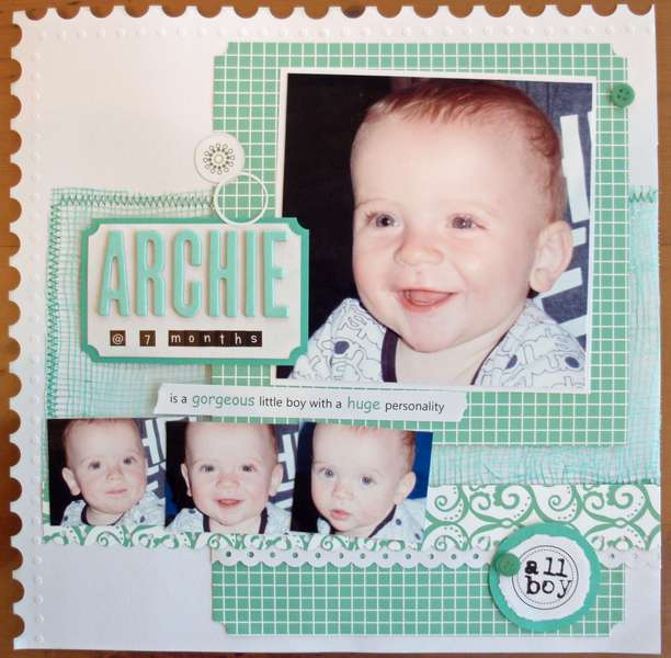Archie@7months. Published in Scrapbooking Memories, 2011.