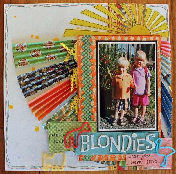 Blondies. Published in Scrapbooking Memories, April 2012.