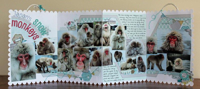 Snow Monkeys. Published in Scrapbooking memories Vol 14, No 11.