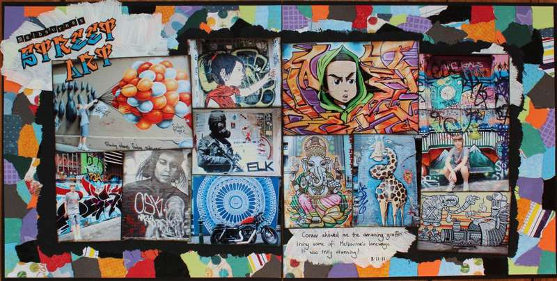 Mebourne's Street Art Published in Scrapbooking Memories Vol 14, No 8