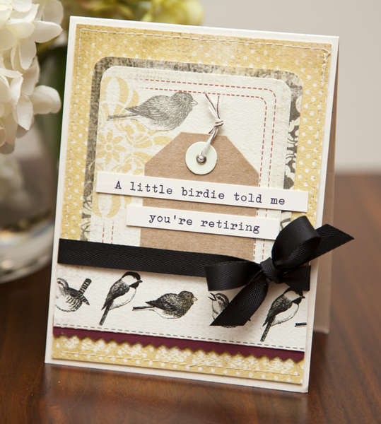 Sweet birdie card