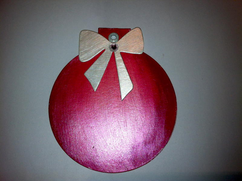 Red Christmas Balls with Bow