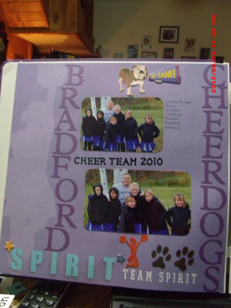 My cheerleading team - The Bradford Cheerdogs