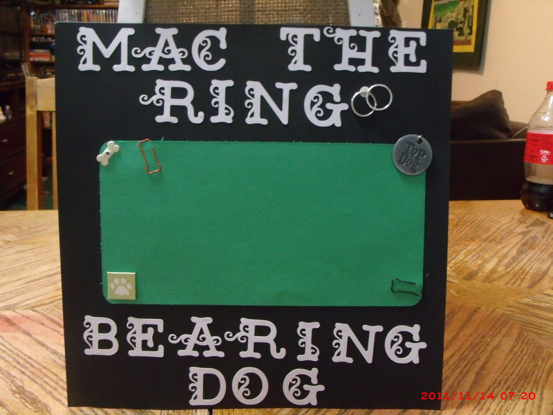 Mac - The Ring Bearing Dog