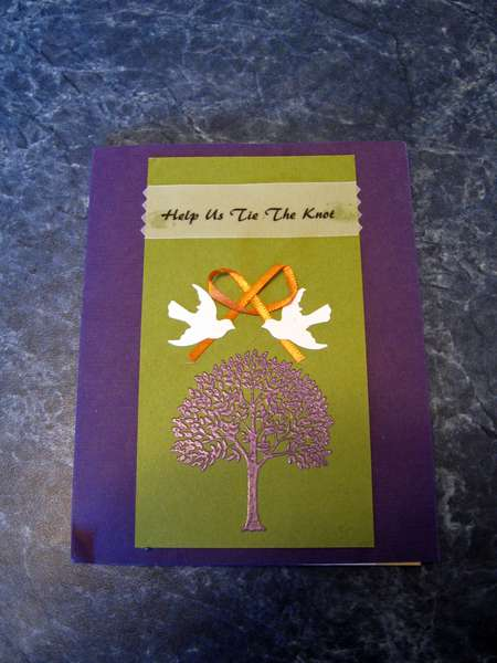 Help Us Tie The Knot Wedding invitation