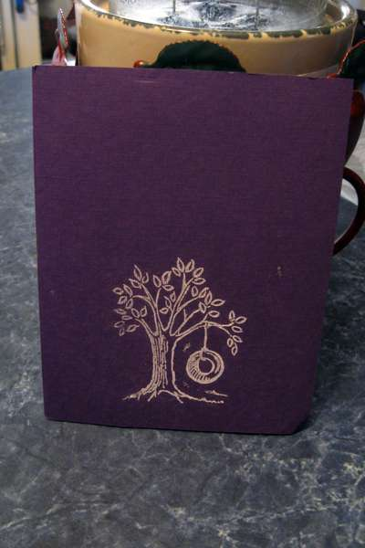Back of Wedding invitation