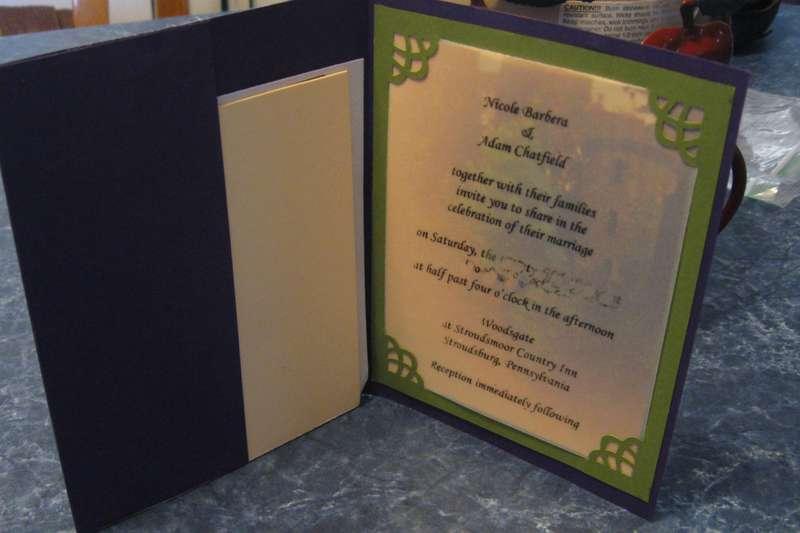 Wedding invitation Pepperpot tower Ireland