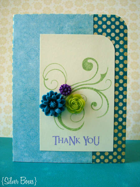 Resin Flower Thank You Card