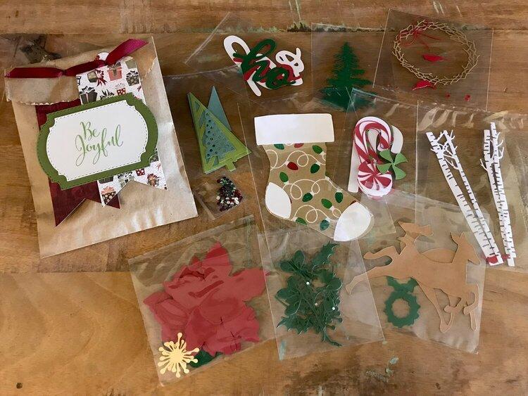 Winter/Christmas Die Cut Swap