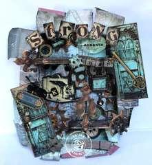 Craftsman Altered Tin Shadow Box