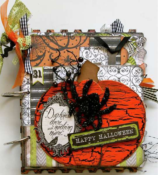 Halloween spooktacular mini book album